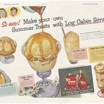 Image of Log Cabin (+ Baker's Coconut), Saturday Evening Post, July 25, 1953