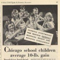 Image of Ad, Cocomalt: Chicago school children average 10-lb. gain. By R.B. Davis Co., Hoboken; in The American Magazine, July 1932. - Ad, Magazine