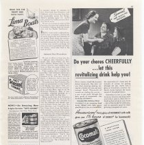 Image of Ad, Cocomalt: Do your chores Cheerfully...let this revitalizing drink help you! By R.B. Davis Co., Hoboken; in Better Homes & Gardens, Feb. 1939 - Ad, Magazine