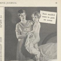 """Image of Ad, Cocomalt: """"Six weeks ago Joan was """"skin and bones"""" By R.B. Davis Co., Hoboken; in LHJ, May 1931. - Ad, Magazine"""