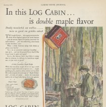 Image of Log Cabin Syrup ad, Ladies' Home Journal, Jan. 1930