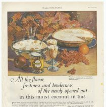 Image of Ad, Baker's Coconut: All the flavor, freshness and tenderness of the... By Franklin Baker Co., Hoboken, N.J.; in LHJ, Nov. 1925. - Ad, Magazine