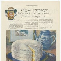 Image of Ad, Baker's Coconut: Fresh Coconut Sealed with All... By Franklin Baker Co., Hoboken, N.J.; in LHJ, Jan. 1926. - Ad, Magazine