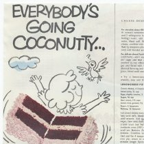 Image of Baker's Coconut, unknown magazine, April 1956