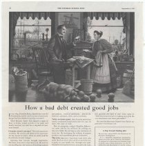 Image of Ad, Baker's Coconut: How a bad debt created good jobs. By Franklin Baker Div., General Foods (Hoboken, N.J.); in SEP, Sept. 1, 1945. - Ad, Magazine