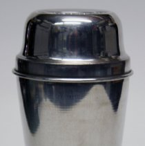 Image of Shaker: Cocomalt. with lid for Cocomalt with 10 cups. Issued by R.B. Davis Co., Hoboken. N.d., ca. 1940-1950. - Shaker