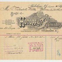 Image of Bill: Hotopp & Co., Manufacturers of Varnishes, Hoboken, N.J., April 4, 1895. - Bill