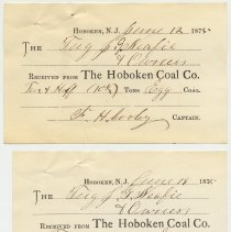 Image of Hoboken Coal Co. receipts