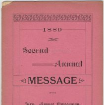 Image of Report: 2nd Annual Message of Mayor August Grassman, City of Hoboken, 1889. - Report