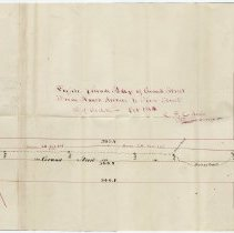 Image of Map sketch: Profile & Grade of Grand St. from Newark Ave. to First St., Hoboken, Oct. 1864. - Map