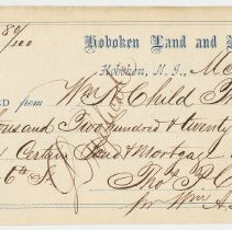 Image of Receipt from Hoboken Land and Improvement Co.
