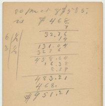 Image of reverse with pencil calculations and notes