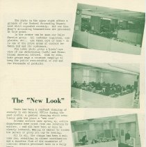 "Image of pg 3: The ""New Look""; photos of renovated offices"