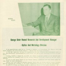 Image of pg 6: George Geier, Optics & Metrology Division