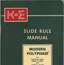 Image of Manual: K&E Modern Polyphase Slide Rule Manual. No. 68 2061 (old 4187Y). K&E, N.Y. & Hoboken, ca. 1962-1963. - Manual, Training