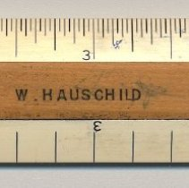 """Image of Scale rule, 6"""", made by Keuffel & Esser Co., Hoboken; marked with K&E employee name. - Ruler"""