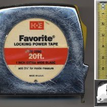 Image of Tape measure, Favorite Locking Power Tape 90 0288, made by Keuffel & Esser Co., n.d., ca. late 1960s-1980s. - Measure, Tape