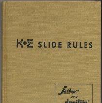 Image of K&E Slide Rules: A Self Instruction Manual. [For Jetlog & Decitrig.] - Manual, Training