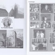 Image of views of the church exterior in different periods; Ravioli Supper
