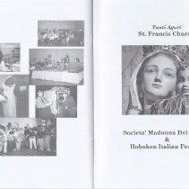 Image of Parish Parties; Ad: Societa' Madonna Dei Martiri & Hoboken Italian Festival