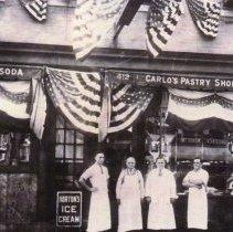 Image of pg [5] photo (enhanced) Guastaferro family, Carlo's Pastry Shop ca. 1925