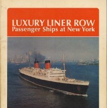 Image of Luxury Liner Row: Passenger Ships at New York. - Book