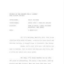 Image of Transcript, oral history: Ralph Seligman, City Planner, March 6, 2010. - Transcript