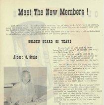 Image of pg 2 Albert C. Stuhr, Golden Guard - 50 years
