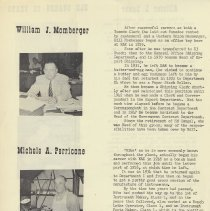 Image of pg 4: William J. Momberger; Michele A. Perricone