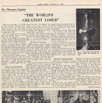 Image of pg 3: Sir Thomas Lipton & America's Cup yacht races; photos