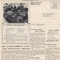 Image of pg 8: recipe; end artilces Miss Ceylon; America's Cup