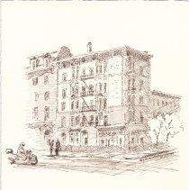 Image of Plate 12. [untitle] (Washington St.); Elyian Cafe, 1001 Washington St.