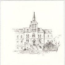 Image of Plate 18: Original Stevens Administration Building (Fifth & Hudson Streets)