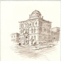 Image of Plate 29: Free Public Library (Hoboken Public Library)