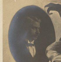 Image of detail front, upper left: portrait of man