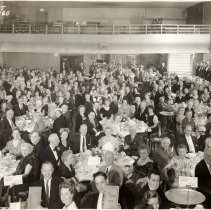 Image of B+W group photo of Stevens Academy Banquet, 100th Anniversary, Union Club (Hoboken), Apr. 28, 1960. - Print, Photographic