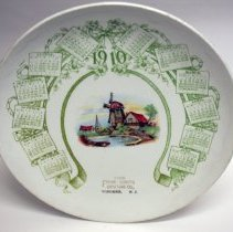 Image of Calendar plate for 1910 issued by The Frank Cordts Furniture Co., Hoboken, N.J. - Plate