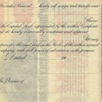 Image of detail text on reverse