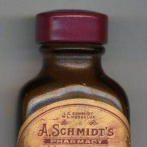 Image of Bottle, prescription: A. Schmidt's Pharmacy, Fourth St. & Willow Ave., Hoboken, N.J. April, 1954. - Bottle, Apothecary