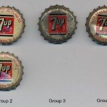 Image of Bottle caps, 8: 7-Up soda bottles; Galler 7-Up (or Seven-Up) Bottling Co., Hoboken, n.d., ca.1950-1960. - Cap, Bottle