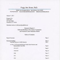 Image of Report 2 part 1 pg [1] table of contents