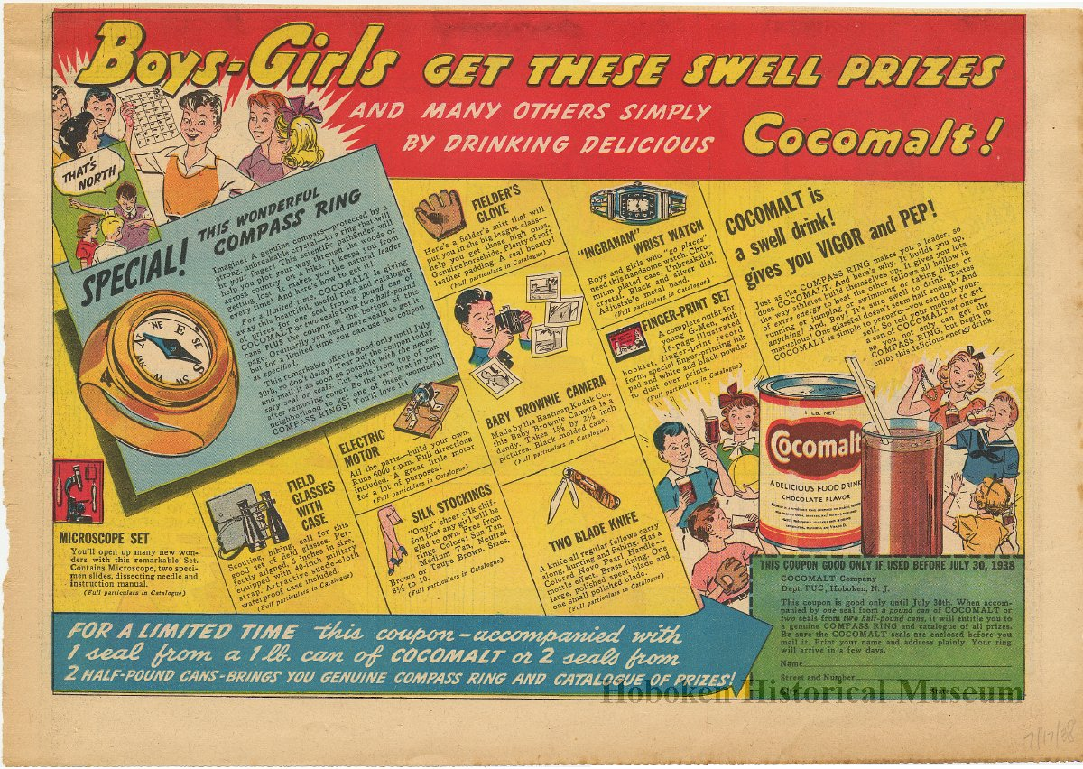 Ad, Cocomalt, Sunday comics: Boys - Girls Get These Swell