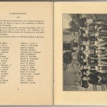 Image of pg 32 Commencment 1918 + photo opp Lacrosse Team