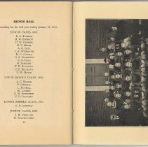 Image of pg 40 Honor Roll + photo opp Football Squad, 1918