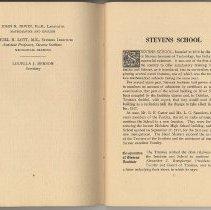 Image of pg 6-7: Faculty; Stevens School (history)