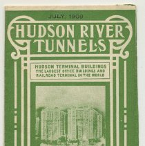 Image of Timetable & map: Hudson River Tunnels, Hudson and Manhattan Railroad Co., July 1909.  - Timetable