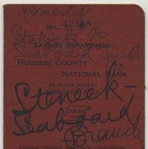 Image of Bankbook: Hudson County National Bank, Hoboken, N.J.; account holder Edward Stover, Hoboken; 1946-1962 - Bankbook