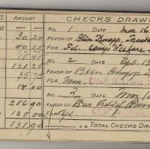 Image of Checkbook: Columbia Trust Company of New Jersey, Hoboken, N.J.; account holder First Church of Christ, Scientist, Hoboken, 1918-1919. - Checkbook