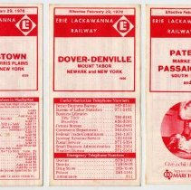 Image of Timetables, 3: Erie Lackawanna Rwy., suburban service to N.Y. via Hoboken, eff. Feb. 29, 1976. - Timetable