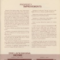 Image of pg 9: Property Improvements; Erie-Lackawanna Income (chart)